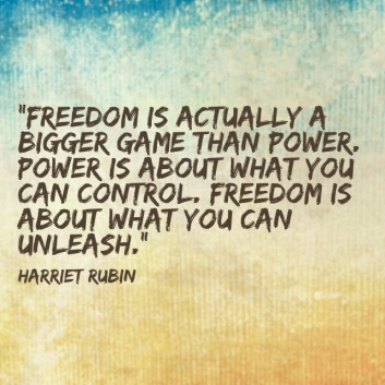 Image result for freedom is about what you can unleash